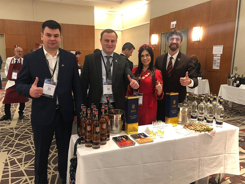 "State-owned enterprise ""UKRSPYRT"" presented vodka ""Ukranian Spirit ""n the USA."